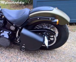 SO06 Cuir sur Softail Slim S Army (1)
