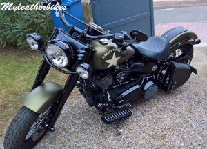 SO06 Cuir sur Softail Slim S Army (2)