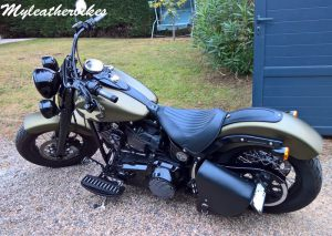 SO06 Cuir sur Softail Slim S Army (3)