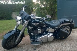 Sacoche en cuir softail FAT BOY SO06GLNG