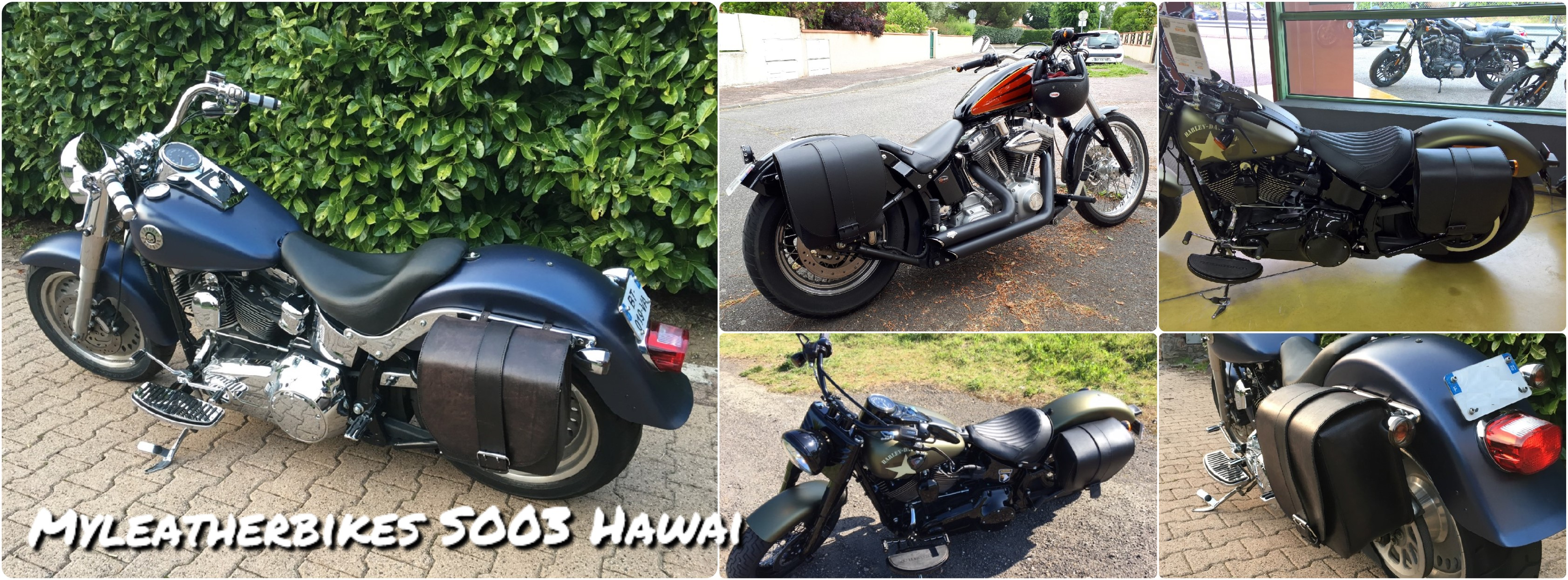 sacoche softail slim SO03 Hawai