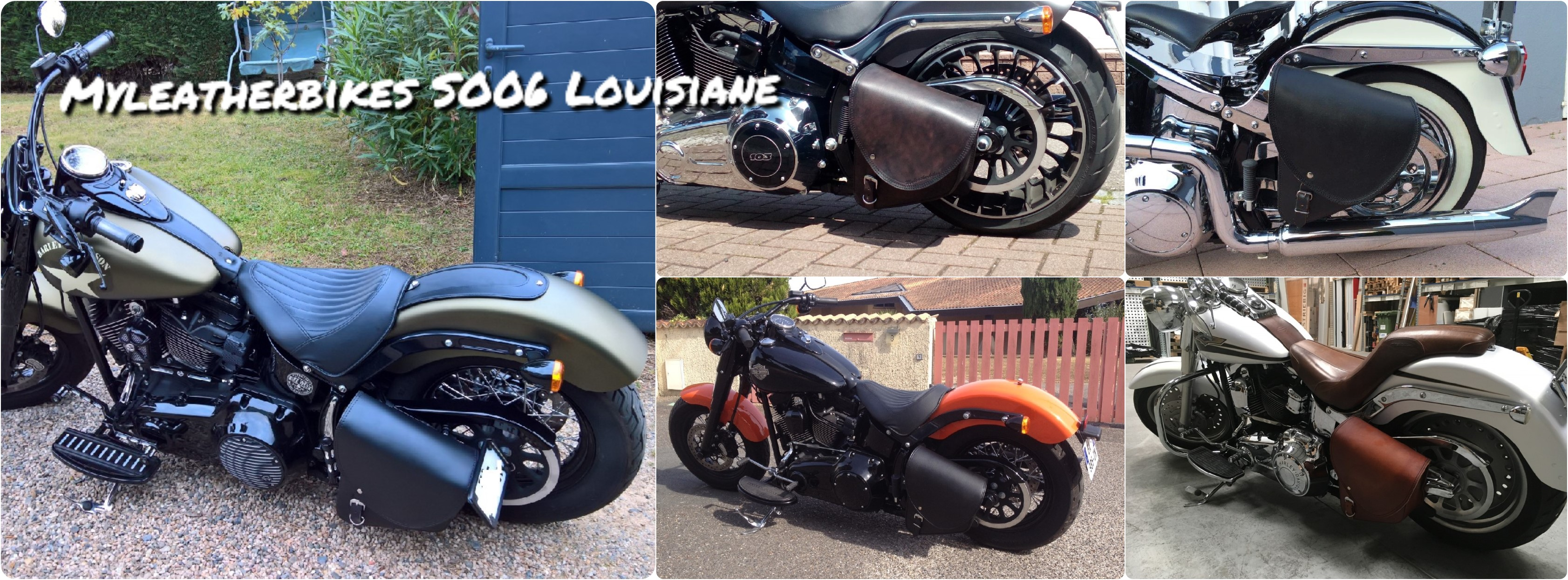 sacoche softail so06 louisiane rexine