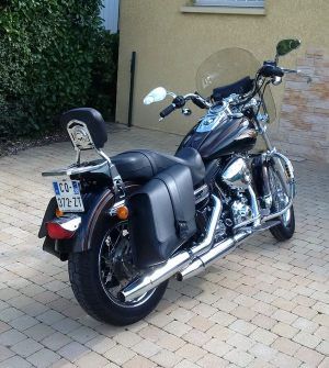 Sacoche Myleatherbikes Harley Dyna Low Rider (28)