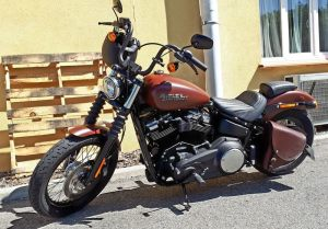 Sacoches Myleatherbikes Softail Streetbob Low rider (6)